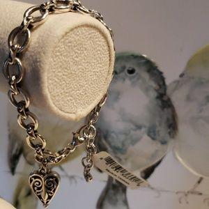 NWT Brighton Mila's Heart bracelet